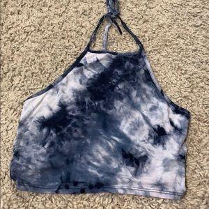 Tie dye blue halter top
